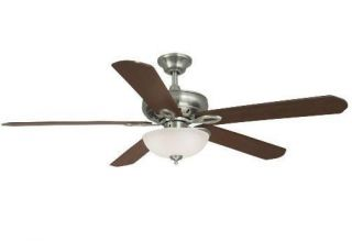 Hampton Bay Asbury 60 inch Ceiling Fan with Remote Control Brushed