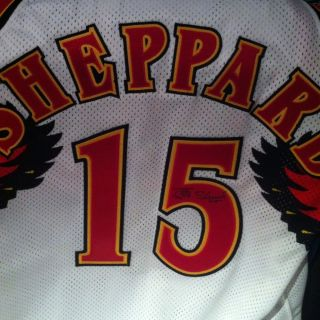 Jeff Sheppard Kentucky Atlanta Hawks Signed Game Used Jersey RARE