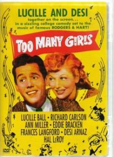 Too Many Girls Lucille Ball Desi Arnaz 1940 DVD New