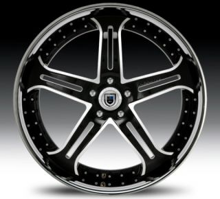 24 asanti AF167 Black Chrome Wheels Rims 3 Piece