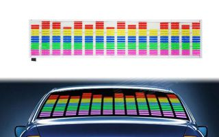 Car Equalizer Rear View Window Sticker Sound Activated
