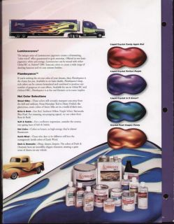 PPG Vibrance Custom Paint Color Charts Chips Auto Car
