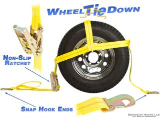 AUTO TIRE TRAILER TIE DOWNS CAR TRAILER NET BASKET STRAP (CTS RAT SNAP
