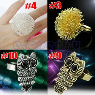 Retro Avanti Mustache Punk Nail Cute Bear Angel Wings Owl Skull Shape