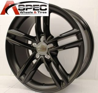 Matt Black Wheel Fit Audi A4 B5 B6 B7 B8 A5 A6 Q5 VW Passat CC