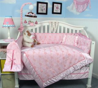 Emily Rose Garden Chenille Baby Crib Bedding 13 pcs Set included