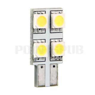 T10 Car Auto White 4 LED 5050 SMD Side Marker Light Lamp Bulb High