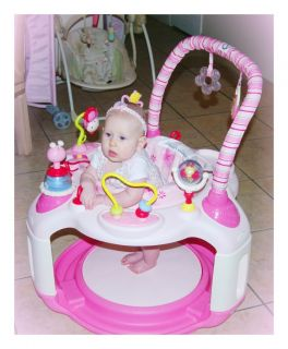 Pink Bright Starts Bounce Baby Activity Center Bouncer jumper & Toys