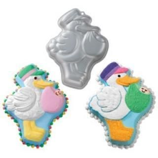 Wilton Stork Express Cake Pan Themed Baby Shower Party Supplies