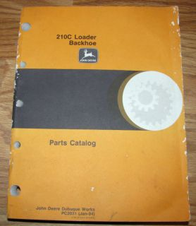 John Deere 210C Loader Backhoe Parts Catalog Manual JD