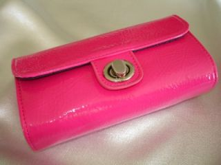 Bare Escentuals Hot Pink Makeup Clutch Bag with Mirror