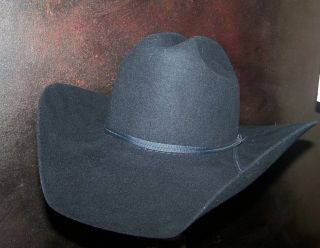 NEW Bailey Challenger 3x Black Western Cowboy Hat Size 6 1 2