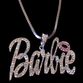 Style Iced Out Nicki Minaj Barbie Pendant Necklace ♥