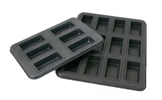 Metal Financier Mold & Baking Pan, Rectangular Shaped Cakes Oven Pan