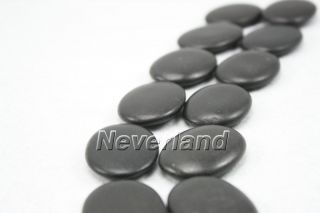 Black 12pc Hot Stone Massage Basalt Rocks 1.5 2.5 Stones new