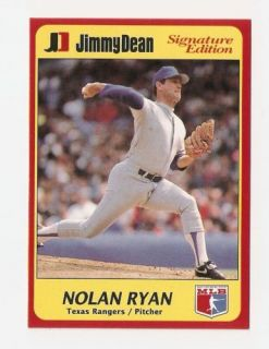 1991 Nolan Ryan Jimmy Dean Baseball Trading Card 24