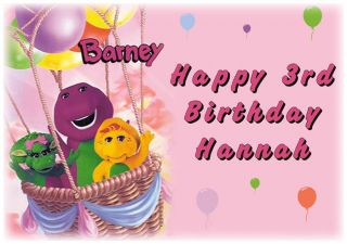 Barney and Friends Edible Cake Image Icing Topper