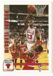 1992 93 Michael Jordan Hoops Basketball Trading Card 30