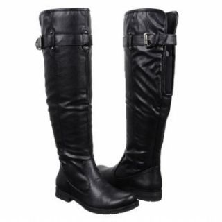 Bare Traps Joclyn Buckle Detail Womens Black Knee High Tall Boot Shoe