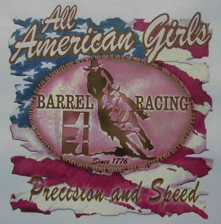 Cowgirl Barrel Racing Precision Speed Rodeo Shirt