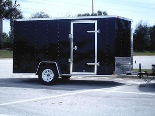 IN FLORIDA 6x12 Enclosed Trailer Cargo V Nose Utility Motorcycle 7 10