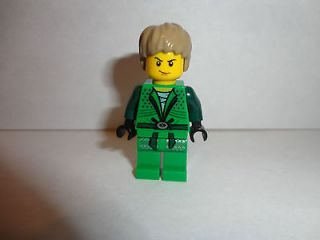 LEGO Ninjago Green Ninja Boy LLOYD Garmadon Minifigure with hair New