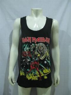 iron maiden number of the beast rock music t shirt l