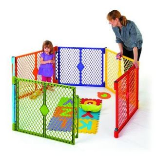 North States Color Superyard Baby/Pet Gate & Portable Play Yard   6