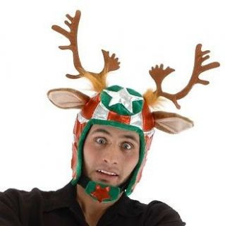 Racing Reindeeer Helmet Hat Adult Costume Accessory NEW Christmas