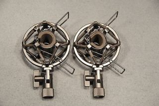 Pair of High Quality Small Condenser Shock Mounts Fits Shure SM81