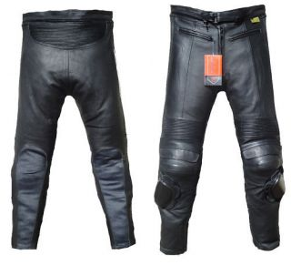 Motorbike Motorcyle 100% Genuine Real Leather Trousers Jeans   CE