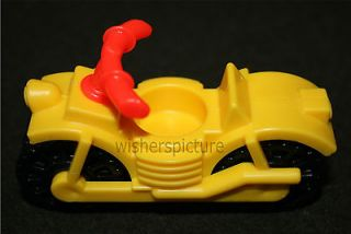 Vintage Fisher Price Little People MOTORCYCLE New Old Stock MINT #166
