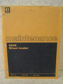 Caterpillar Maintenance Manual 966D Wheel Loader Lubrication Lube Fuel