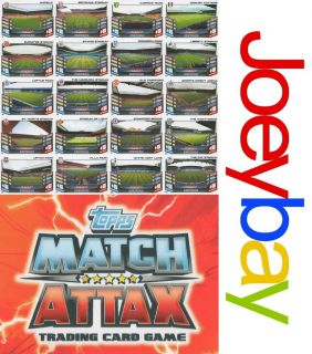 CHOOSE 12/13 STADIUM MATCH ATTAX CARD 2012 2013 FROM ALL 20 STADIUMS