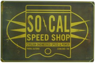 SO CAL OIL CAN TIN SIGN VTG STYLE HOT ROD RAT GARAGE RETRO OLD SCHOOL