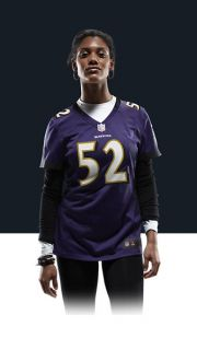 Ray Lewis Womens Football Home Game Jersey 469891_568_A_BODY