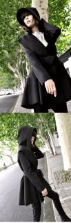 NEW HOT WOMENS HOODED COAT JACKET TRENCH OUTERWEAR DRESS STYLE TOP WF