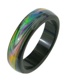 Opal Essence Agate Mood Color Changing Ring Band s M L