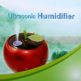 3W Apple Shaped USB Ultrasonic Air Humidifier Mist Anion Moist DC 5V