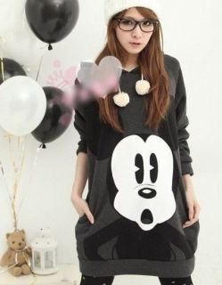 Korean Womens Cute Disney Mickey Mouse Hoodie Sweatshirt Outerwear
