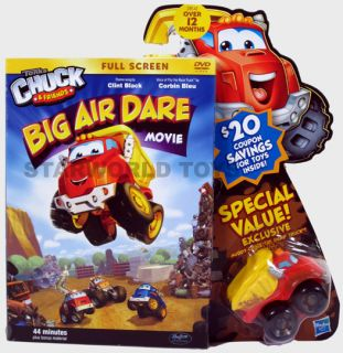 Tonka Chuck Friends Big Air Dare Movie DVD Includes Dump Truck Toy New