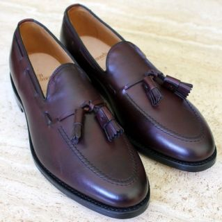 ALLEN EDMONDS GRAYSON CORDOVAN TASSEL LOAFERS SHOES MEN 9 5 D