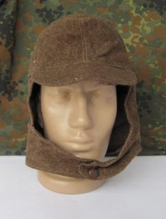 WWII Original German Ally M43 Panzer Tank Officer Hat