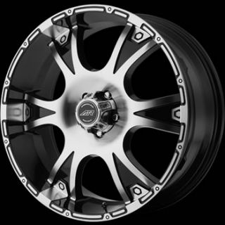 16x8 Machined Black Wheel American Racing Dagger 8x170