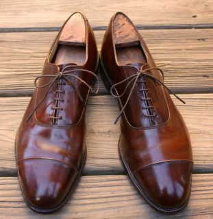 ALLEN EDMONDS Park Avenue Brown Cap Toe Oxford Dress Shoes size 12 D
