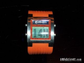 AND1 Mens Solar Chronograph Watch with Scrolling Digital Display Model
