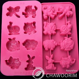 Cute Animals Silicone Molds Chocolate Molds Candy Molds Cake Deco