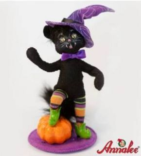 2011 Annalee Dolls Kitty in Boots Halloween Black Cat