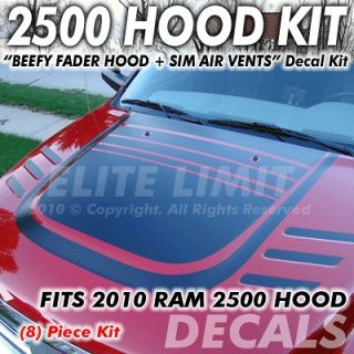 2010 2011 2012 2013 Dodge Ram 2500 Truck Decal Decals HOOD Stripes