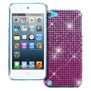 Apple iPod Touch 5 5th Gen Hot Pink Fade Diamante Bling Jewel Gem Case